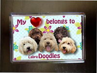 Labradoodle Gift Dog Fridge Magnet 77x51mm Birthday Gift Xmas Stocking Filler