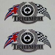 TRIUMPH THRUXTON Cafe RACER Bandera'S Pegatinas,