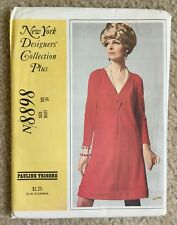 1960s Uncut McCall's NY Designer Collection Pauline Trigere Sewing Pattern 8898