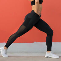 Lady Yoga Gym Sports Workout Leggings Run Fitness Stretch Pants With Pocket X260