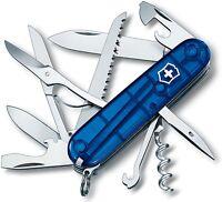 Victorinox Swiss Army Huntsman Knife 15 Functions Sapphire Blue Handle 53206