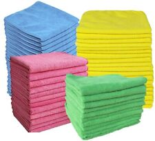10 x Large Microfibre Cleaning Cloths Car Bathroom Polish Dusters Towels 37x37