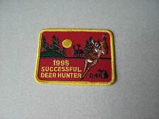 1995 MICHIGAN SUCCESSFUL DNR DEER HUNTING PATCH - BEAR - TURKEY - ELK