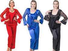 Damen-Nachtwäsche aus Polyester ohne Muster für die Freizeit