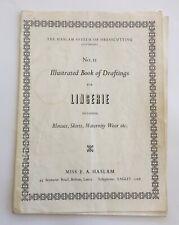 Original Dress Sewing Patterns 1940/50's Lingerie HASLAM Draftings No 11