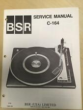 BSR Service & User Manual for the C-164 Turntable Record Changer