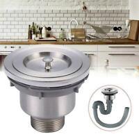 Silver Kitchen Waste Durable Steel Basket Stopper Shower Sink Drain Straine F6Y9