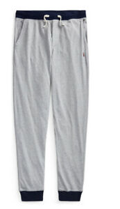New Polo Ralph Lauren Kids Cotton Jersey Joggers Pants Size M (10-12) Grey New