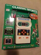 Mattel Classic Sports Game Plug & Play TV 3 in 1 In Box Brand New 2005