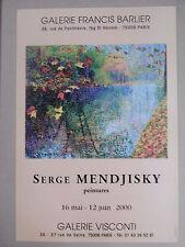 MENDJISKY Serge Affiche originale 2000 Judaïsme Ecole de Paris Paysage Nature