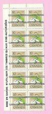 CANADA 1978 French Margin Block of 10 - 10c. FLOWER DEFINITIVE  Precancels  MNH