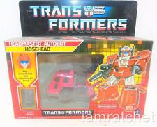 Transformers Original G1 Headmaster Hosehead Complete Box Bubble Sealed Stickers