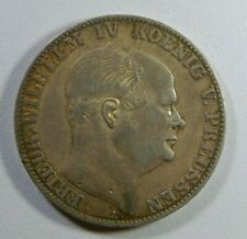 1860 GERMANY PRUSSIA SILVER THALER CROWN COIN