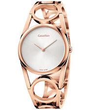Calvin Klein K5U2S646 Ladies Round Rose Gold Tone Swiss Made Fashion Watch
