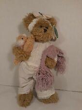 "Bearington Collection Teddy Bear Cat Napper Plush 1417 14"" w Stuffed Kitten 2003"