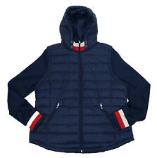 Tommy Hilfiger Womens Full Zip Puffer Jacket With Knit...