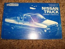 1987 Nissan Truck Owner Owner's User Guide Operator Manual E SE XE STD 2.4L 4Cyl