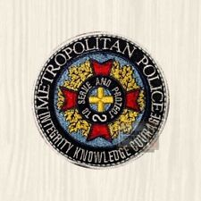 Metropolitan Police Academy Replica Patch To Serve & Protect Shield Embroidered