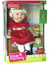 FISHER PRICE LITTLE MOMMY HOLIDAY PARTY CHRISTMAS DRESS DOLL  *NEW*