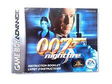James Bond 007: Nightfire Instruction Booklet Nintendo Game Boy Advance Manual
