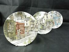 "3 x Royal Doulton Collector Plates ""Window Shopping"" Series By Colin Warden"