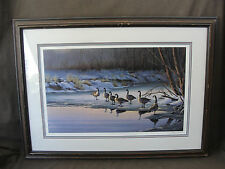 Limited Edition Print Geese in Winter by Donald L. Moore