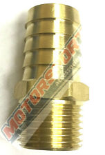 "BRASS BARB 1/2""NPT TO 3/4""(19mm) BARB #SPP415-08-12, FUEL FITTING OIL FITTING"
