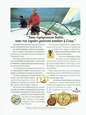 Publicité Advertising 087  1992  montre Rolex  Day-date chrono & Bruce Farr