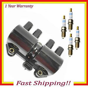 UF356 Ignition Coil & Bosch Platinum Spark Plug For Isuzu Rodeo Amigo 2.2L 5PCS