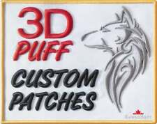 3D PUFF Custom Embroidered Patches Iron / Sew On Backing