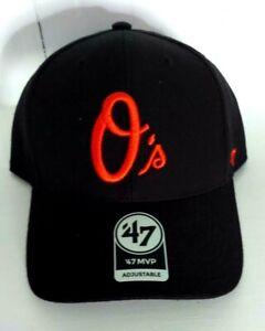 Baltimore Orioles '47 MVP Adjustable Black Cap Classic Script O's Logo MLB New