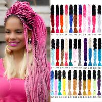 24'' Ombre Jumbo Braiding Dreads Synthetic Twist Crochet Hair Extension 100g/pcs