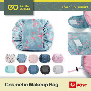 Lazy Cosmetic Bag Printing Drawstring Makeup Case Storage Bag Portable Travel AU