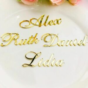 Personalized Gold Silver Wooden Guest Place&Names Customized Wedding Table Sign