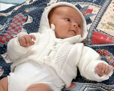 Knitting Pattern Baby's Lovely DK Hooded Jacket Preemie - 3 Yrs (55)