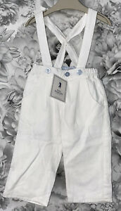 Boys Age 0-3 Months - Mini Schuss Trousers With Braces - BNWTS