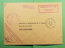 DR WHO 1972 FRANCE PORTE AVIONS FOCH NAVY SHIP OFFICIAL FREE FRANK  f52967