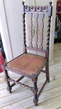 Antique Victorian Barley Twist Oak Chair