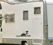 Aufkleber Wohnwagen Wohnmobil Caravan Camper Auto 2x Sonnenaufgang Sonne 75