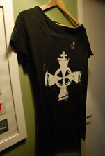 ALEX CHRISTOPHER BLACK GOTHIC T-SHIRT CROSS CRUCIFIX VAMPIRE GOTH HALLOWEEN