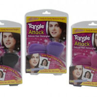TANGLE ATTACK HAIR DETANGLER WITH TRAVEL CASE & MIRROR DETANGLE DETANGLING BRUSH