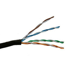 Black Cat 5e UTP Outdoor Use Ethernet Cable Per 5 metre