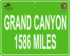 """Grand Canyon in Arizona 11"""" x 14"""" sign - distance to your house"""
