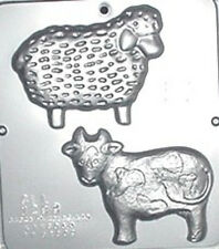 Cow, Sheep Chocolate Candy Mold  1293 NEW