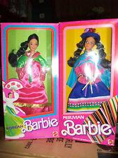 Lot of 2 Parisian & Korean Barbie Dolls of the World 1st Ed