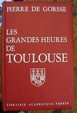 Les Grandes Heures de TOULOUSE 1978 HISTORY French Language FREE US SHIPPING