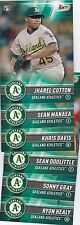 OAKLAND ATHLETICS A'S 2017 Topps Bunt Physical TEAM SET (6 cards) HEALY COTTON