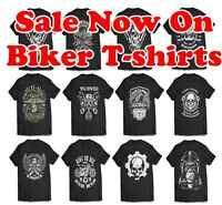 Biker T-Shirt Sale UP to 5XXL Motorcycle Tshirts, Outlaw Skull, Harley Triumph