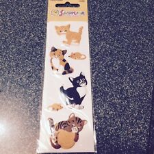 3D Sandylion PUFFY FUZZY CAT Stickers CATS ADHESIVES NEW