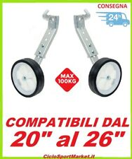 """COPPIA STABILIZZATORI / ROTELLE per bicicletta bici 26"""" - PORTATA 100 kg"""